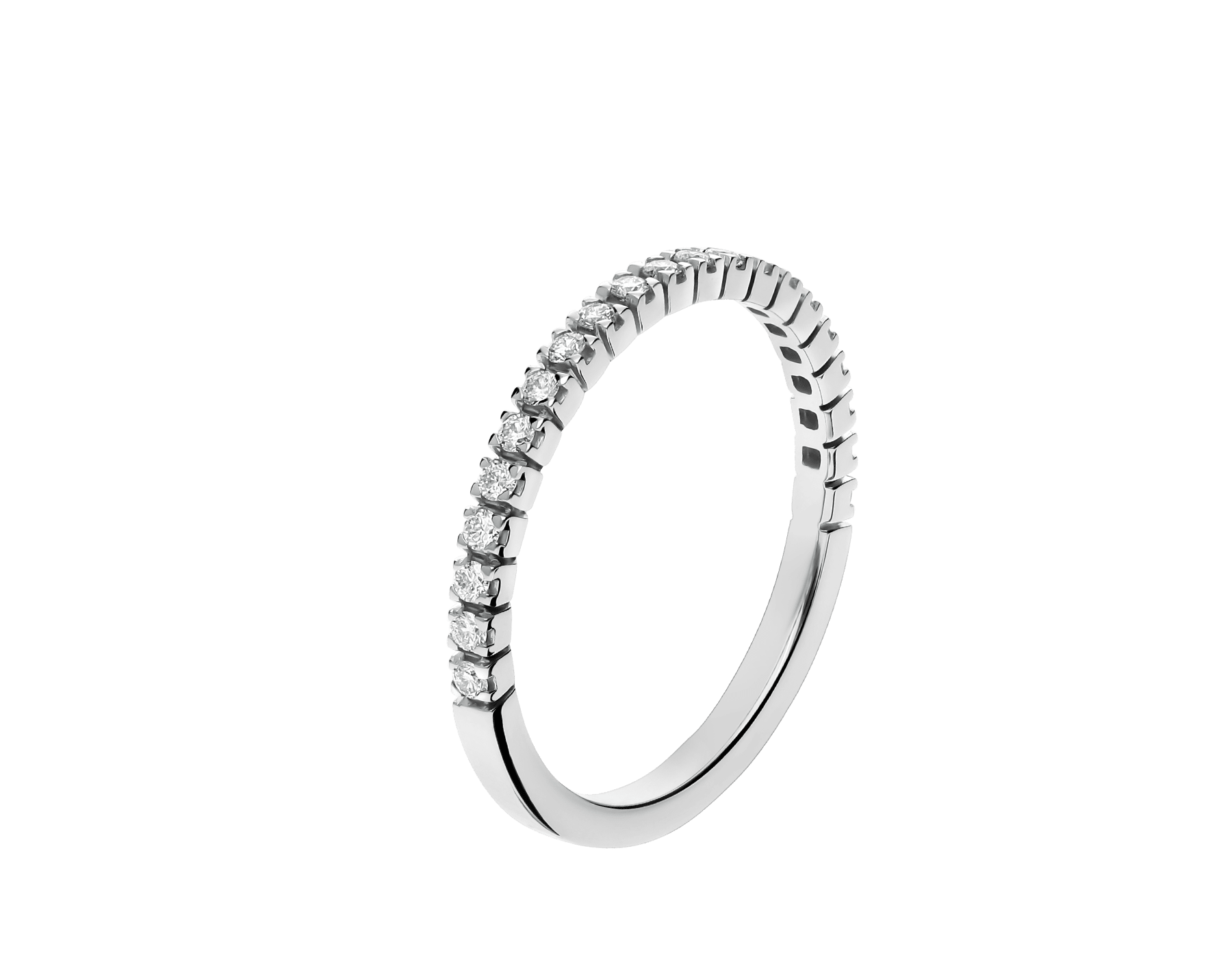 Eternity Band in thin size in 18 kt white gold with demi tour round brilliant cut diamonds AN857562 image 1