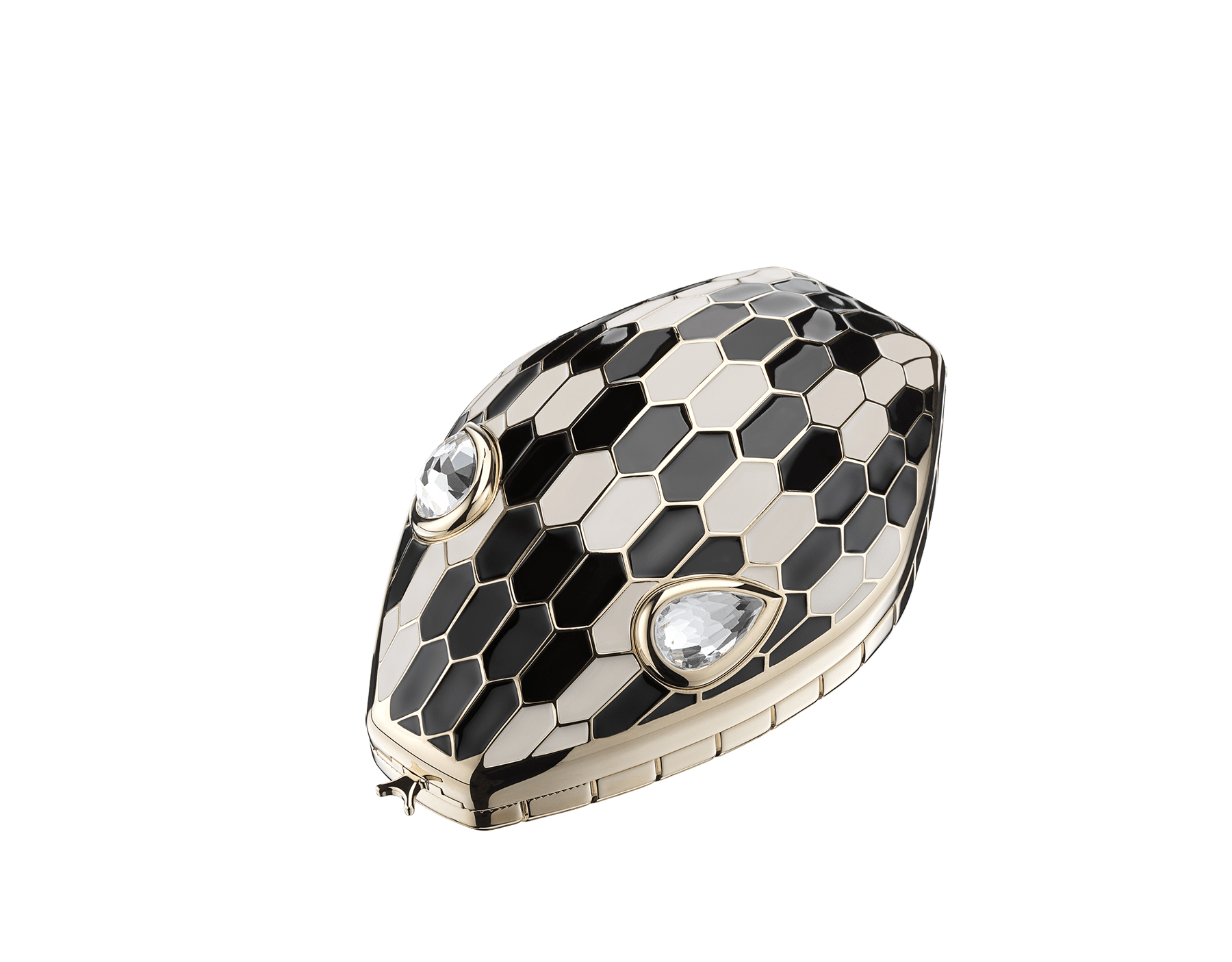"""Mary Katrantzou x Bvlgari"" minaudière in light gold-plated brass with multicolour enamel scales, finished with seductive crystal eyes. Special Edition. MK-1153 image 1"