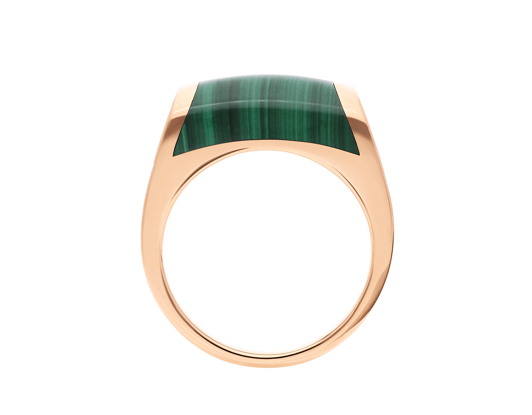 MVSA ring in 18 kt rose gold, set with a malachite. AN857913 image 2