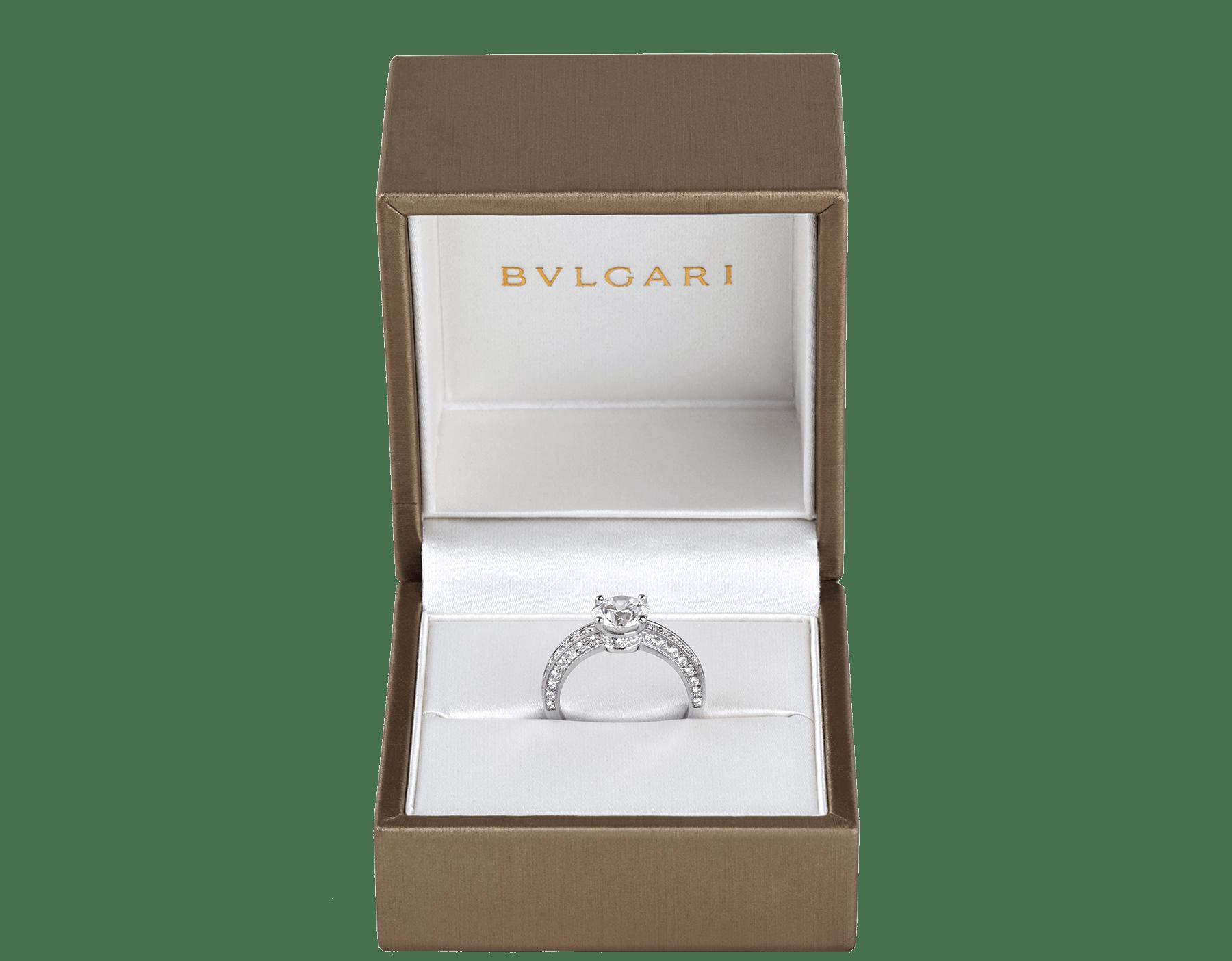 Dedicata a Venezia: solitaire1503 en platine serti d'un diamant rond taille brillant et pavé diamants 343367 image 5