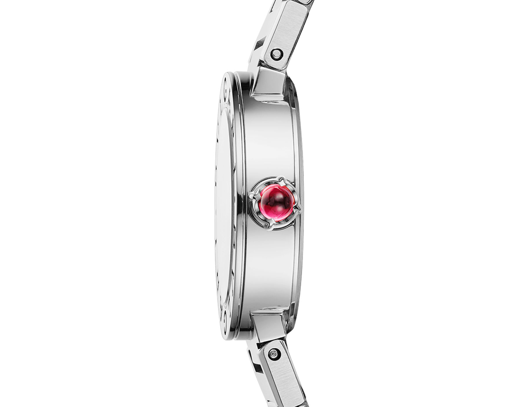BVLGARI BVLGARI watch in stainless steel case and bracelet, stainless steel bezel engraved with double logo and mother-of-pearl dial 103217 image 3