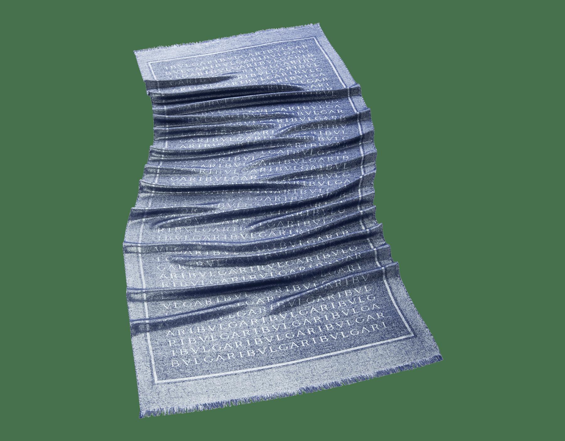 Stola Lettere Maxi Metal argento in seta pregiata. 242925 image 1