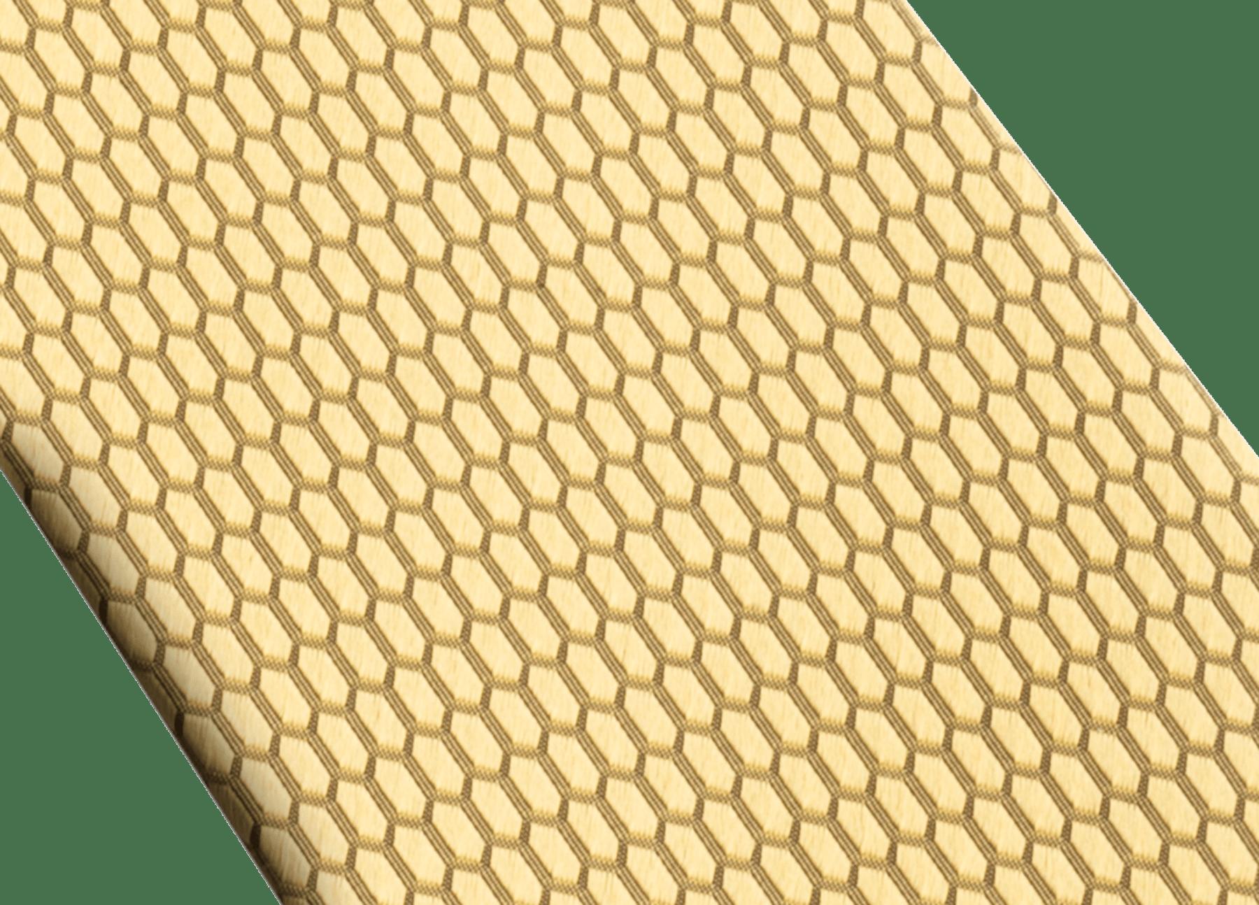 """Siebenfach gefaltete goldgelbe Krawatte mit """"Color Snake""""-Muster aus feinem Seidenjacquard. 244096 image 2"""