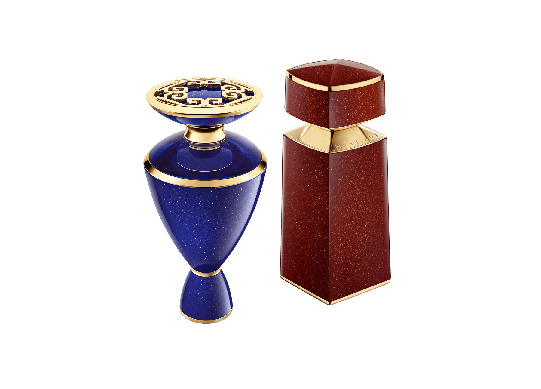 The encounter of two gems of nature: the iridescent Aventurine gemstone and precious Saffron spice harmoniously give way to this magnificent new fragrance collector's duo 41507 image 1