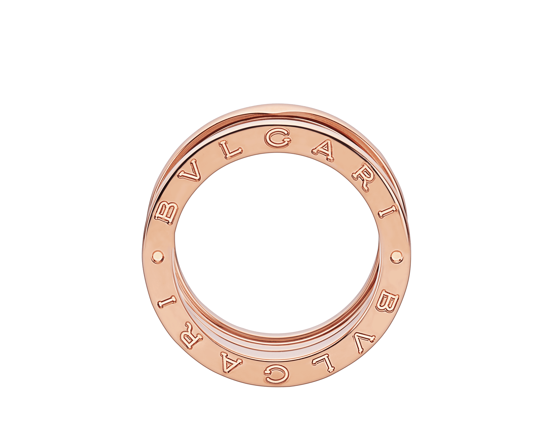 B.zero1 four-band ring in 18 kt rose gold. B-zero1-4-bands-AN856732 image 3