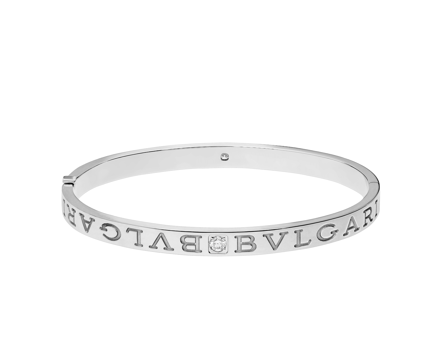 BVLGARI BVLGARI 18 kt white gold bangle bracelet set with diamonds BR856790 image 2