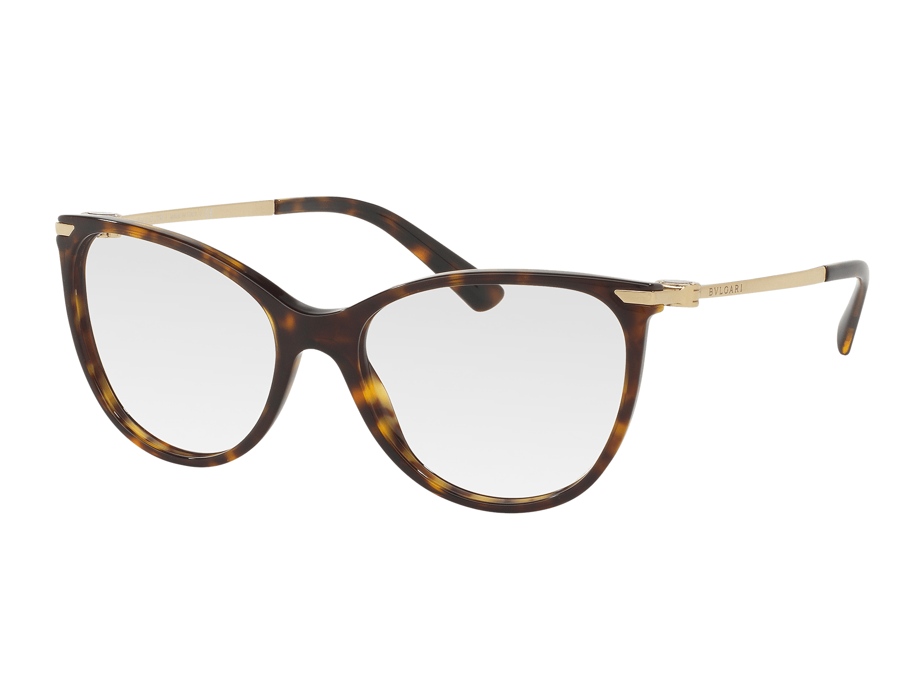 Well balanced round frame for this optical version of the BVLGARI-BVLGARI eyeglasses. The metal temples are adorned with the brand signature and a playful BVLGARI-BVLGARI décor that features enamel details. 903117 image 1