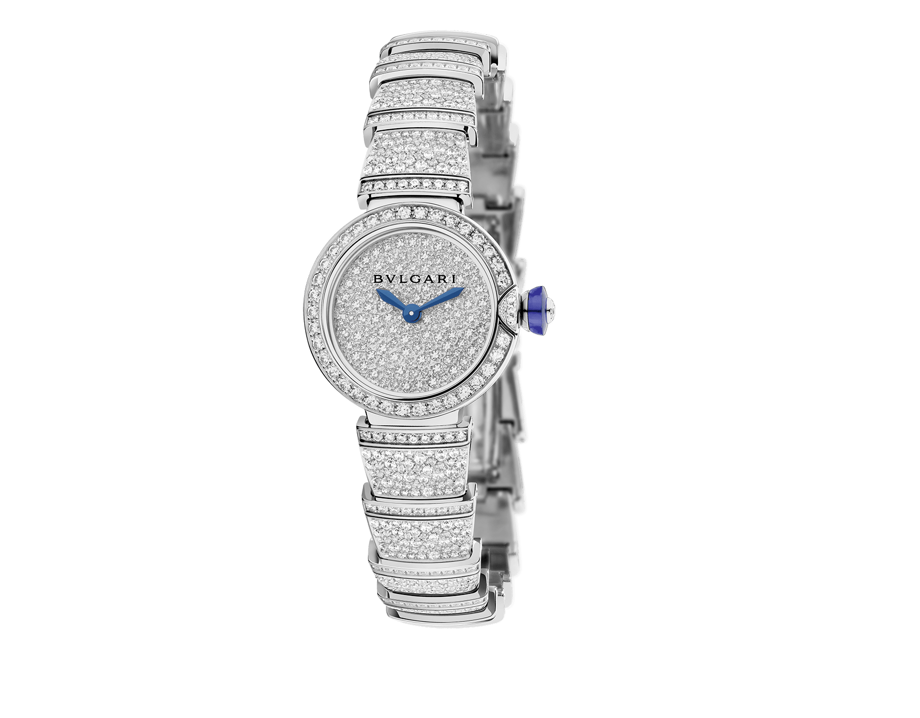 Piccola Lvcea watch in 18kt white gold case and bracelet, both set with brillant-cut diamonds and full pavé diamond dial. 102574 image 1