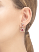 DIVAS' DREAM 18 kt rose gold openwork earrings, set with pear-shaped rubies, round brilliant-cut and pavé diamonds. 356954 image 4