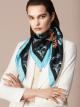 "Black ""Mary Katrantzou x Bvlgari"" scarf in fine, printed silk twill. Special Edition. MK-90Scarf image 2"