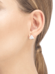 DIVAS' DREAM earrings in 18 kt rose gold, set with mother-of-pearl and pavé diamonds. 352600 image 4