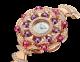 DIVAS' DREAM 腕錶,18K 玫瑰金錶殼鑲飾明亮型切割鑽石、紅碧璽圓珠和紫水晶圓珠。白色珍珠母貝錶盤,18K 玫瑰金錶帶鑲飾明亮型切割鑽石。 102080 image 2