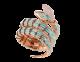 Montre secrète Serpenti avec tête en or rose 18K sertie de diamants taille brillant et yeux en turquoise, boîtier en or rose 18K, cadran et bracelet double spirale en or rose 18K sertis de diamants taille brillant et turquoises. 102142 image 1