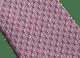 ピンクのBメール セブンフォールドネクタイ。上質なジャカードシルク製。 B-Mail image 2