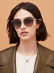 Bulgari Serpenti Serpentine cat-eye metal sunglasses. 903977 image 3