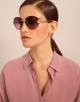 Bulgari Divas' Dream round metal sunglasses with Divas' Dream metal décor and crystals. 903910 image 3