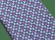 ブルーのダブル ビー・ディーヴァ ネクタイ。上質なジャカードシルク製。 244439 image 2