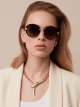 DIVAS' DREAM oval metal sunglasses. 903393 image 3