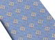 Corbata de siete pliegues azul claro en seda de jacquard fina Logo B Point. 244388 image 2