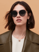 Bulgari Serpenti rounded metal sunglasses. 903988 image 3