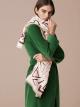"Ivory Opal white ""Lettere Maxi Tangram"" stole in fine printed silk wool. LETTEREMAXITANGR image 2"