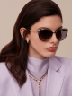 Bulgari Serpenti Serpentine cat-eye metal sunglasses. BV6083 image 4