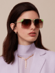 "Serpenti ""Sunnyscale"" oversized square metal sunglasses. 904031 image 3"