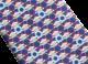 Navy Ring Cake Logo pattern seven-fold tie in fine saglione printed silk. 244196 image 2