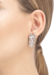 Fiorever 18 kt white gold pendant earring, set with 6 round brilliant-cut diamonds and pavé diamonds. 356911 image 3