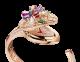 세르펜티 아이즈 온 미. 18kt 로즈 골드 소재의 케이스, 18kt 로즈 골드 소재에 브릴리언트컷 다이아몬드가 세팅된 다이얼, 18kt 로즈 골드 소재에 브릴리언트컷과 나베컷 다이아몬드, 페어 쉐입 루벨라이트, 투르말린, 탄자나이트, 바이올렛 가넷과 라운드컷 에메랄드 1개가 세팅된 뱀 머리 장식, 18kt 로즈 골드에 브릴리언트컷 다이아몬드와 바게트컷 투르말린이 세팅된 브레이슬릿 102823 image 2