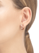 Serpenti Viper 18 kt rose gold earrings set with pavé diamonds. 356175 image 3