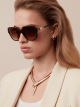 "Serpenti ""Back-to-scale"" acetate square sunglasses. 904036 image 3"