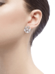 DIVAS' DREAM earrings in 18 kt white gold set with a central diamond and full pavé diamonds. 350785 image 4