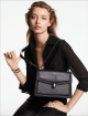 """""""Serpenti Diamond Blast"""" shoulder bag in black quilted nappa leather body and black calf leather frames. Iconic snakehead closure in dark ruthenium plated brass enriched with black and white enamel and black onyx eyes. 287360 image 5"""