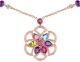 DIVAS' DREAM 18 kt rose gold necklace set with coloured gemstones and pavé diamonds 355617 image 3