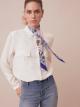 淺藍色 CITTA ETERNA 上等斜紋絲領巾。 CITTAETERNASHELb image 2