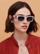 Bulgari Serpenti Back-to-scale rectangular acetate sunglasses. 903969 image 3