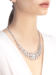 Fiorever 18 kt white gold necklace set with round brilliant-cut diamonds and pavé diamonds. 356934 image 4