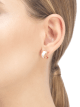 Серьги B.zero1, розовое золото 18 карат, белая керамика. 346464 image 3