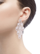 Serpenti earrings in 18 kt white gold, set with pavé diamonds. 353844 image 4