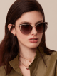 Bvlgari Serpentine Rainbow Scales semi-rimless cat-eye metal sunglasses 903639 image 3