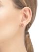 Boucles d'oreilles Fiorever en or rose 18 K serties de deux diamants de centre 355327 image 4