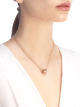 B.zero1 necklace with chain and small round pendant in 18kt rose gold. 335924 image 4