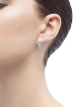 Serpenti slim earrings in 18 kt white gold, set with full pavé diamonds. 351426 image 3