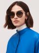 Bulgari Serpenti rounded metal sunglasses. 903987 image 1