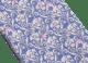 Light Blue Bee Lux pattern seven-fold tie in fine jacquard silk. 244078 image 2