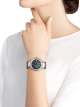 DIVAS' DREAM watch with 18 kt white gold case set with brilliant-cut diamonds, aventurine dial with hand-painted peacock set with diamonds and dark blue alligator bracelet 102740 image 4