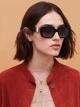 Bulgari Serpenti Back-to-scale rectangular acetate sunglasses. 903947 image 3