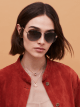 Bulgari Fiorever double bridge aviator sunglasses. 903999 image 3
