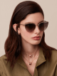 Bvlgari B.zero1 B.purevibes semi-rimless cat-eye metal sunglasses. 903712 image 4